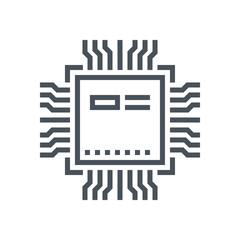 Processor and hardware icon