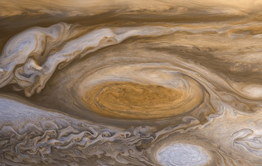 Jupiter surface. Elements of this image furnished by NASA