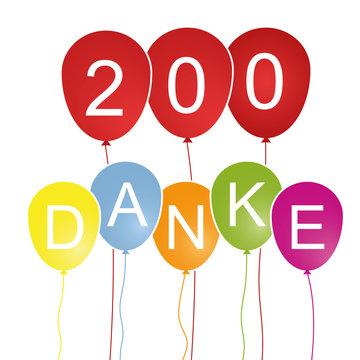 200 Danke - Luftballons