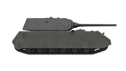 Mouse German army tank isolated gun