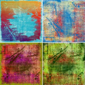 grunge painted backrounds
