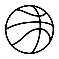 Professional basketball or street basketball line art icon for apps and websites