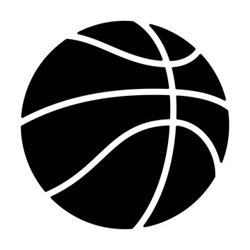 Professional basketball or street basketball flat icon for apps and websites
