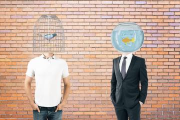 Birdcage and fishtank head brick