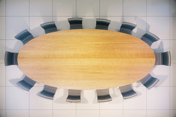 Conference table wooden top