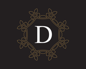 monogram vintage letter D logo