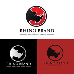 Rhino logo template.Animal logo