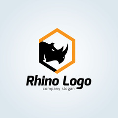 Rhino logo template.Animal logo