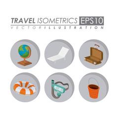 travel isometrics design