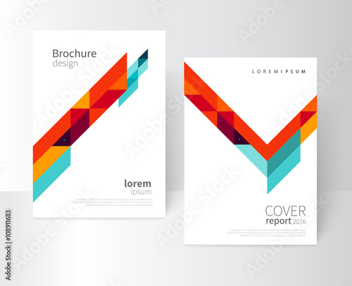 Minimalistic White cover Brochure design. Flyer, booklet, annual ...