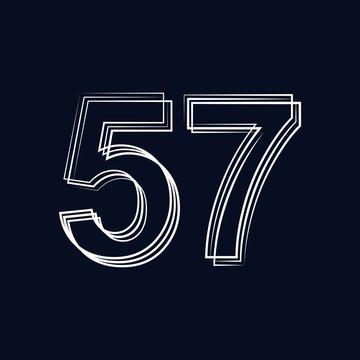 number 57 outline storke