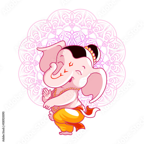 Little Cute Ganesha Stock Image And Royalty Free Vector Files On