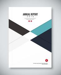 Corporate annual report template design. corporate business docu