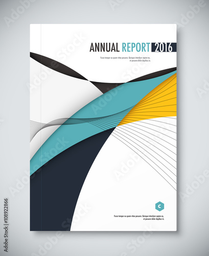 Annual report cover design book brochure template with sample – Free Annual Report Templates