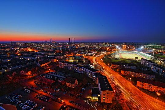 Wolfsburg Syline by night