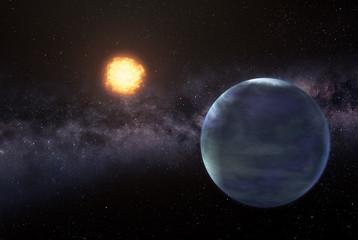 Earthlike planet in deep space