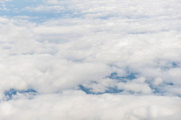 Aerial view of clouds with blue sky nature