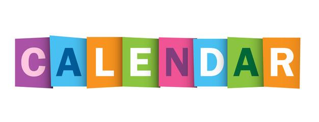 CALENDAR colourful vector letter icon