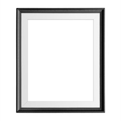 Black blank frame isolated on white background.