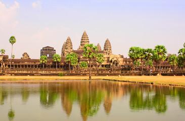 Famous landmark Angkor Wat complex, khmer culture, Siem Reap, Ca