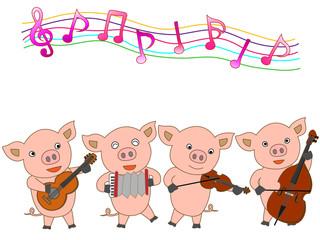 子豚のコンサート