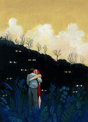 lovers in the forest