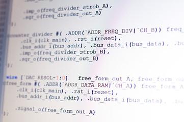 Program coding on light display