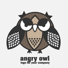 Angry owl logotype