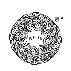 Boho Style water. Vector illustration.