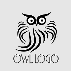 Picture black and white wow owl logo