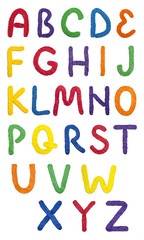 Handmade plasticine alphabet