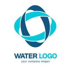 Water logo. Water Association. Vector logo concept