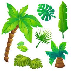 Stylized Jungle Trees Set