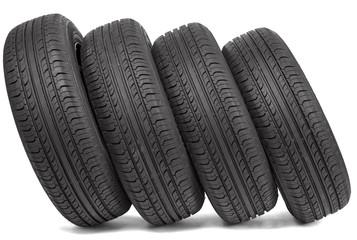 Four black tires