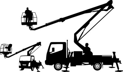 bucket truck, mobile lift