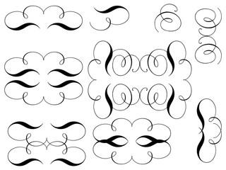 Curls. Design elements. Vector.