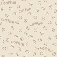 Seamless pattern coffee in vector. Set of food and drink