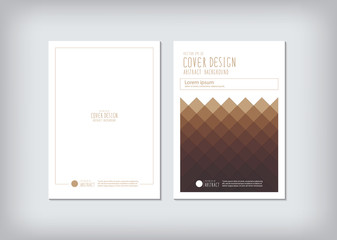 The annual report covers the business and graphic shapes like sq