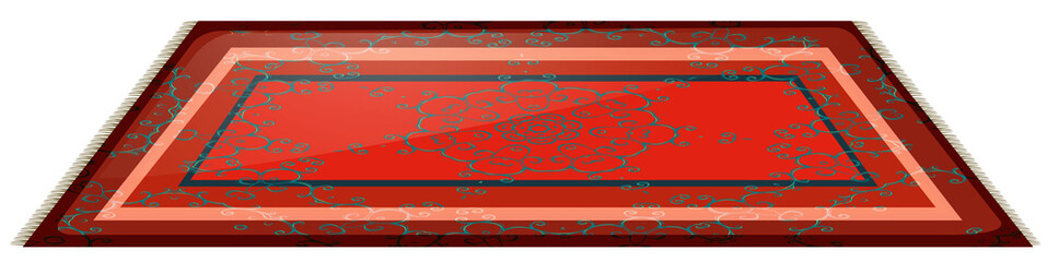 Red mat with plain design