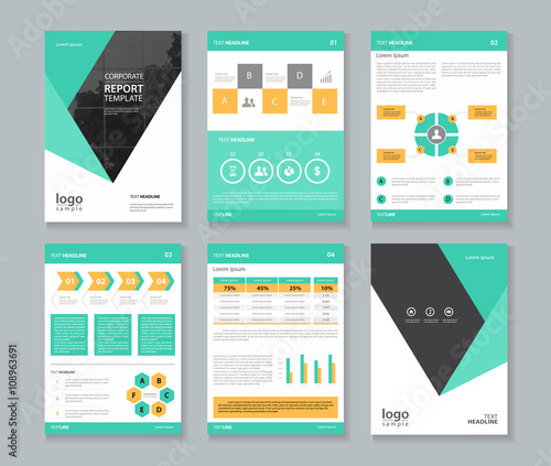 company profile annual report brochure flyer layout template