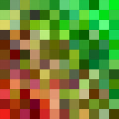 Red green color square mosaic background
