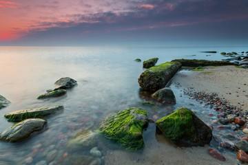 Obraz Morze Bałtyckie w blasku wschodzącego słońca - fototapety do salonu