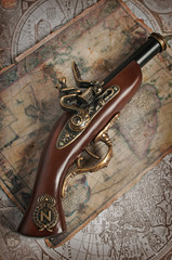 Antique musket or pistol