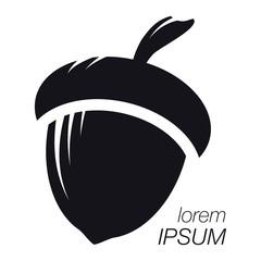 Acorn Logo. Silhouette Acorn. Template Logo Company
