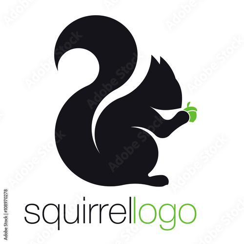 Squirrel Logo. Silhouette Squirrel. Template Logo Company\