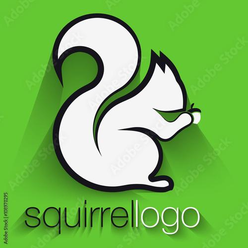 Squirrel Logo. Outline Squirrel. Template Logo Company\