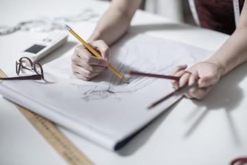 Wedding dress designer drawing
