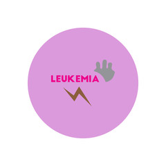 Vector icon  on  circle various symptoms of leukemia on bodies