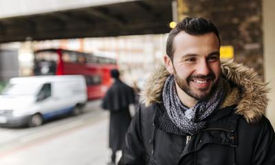 UK, London, portrait of smiling man