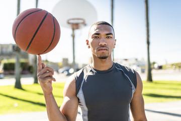 USA, Los Angeles, basketball training